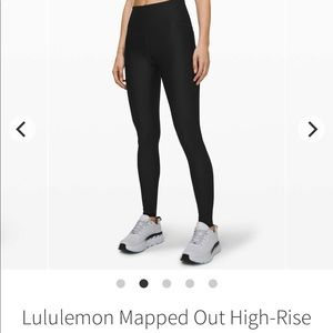 LULULEMON BLACK MAPPED OUT TIGHTS